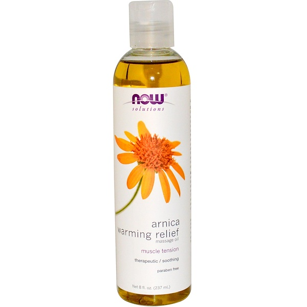 Now Foods, Solutions, Arnica Warming Relief Massage Oil, 8 fl oz (237 ml)