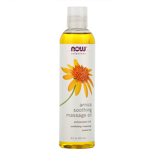 Now Foods, Solutions, Arnica Soothing Massage Oil, 8 fl oz (237 ml) отзывы покупателей