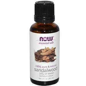 Now Foods, Эфирные масла, Сандаловое дерево, 1 жидкая унция (30 мл)