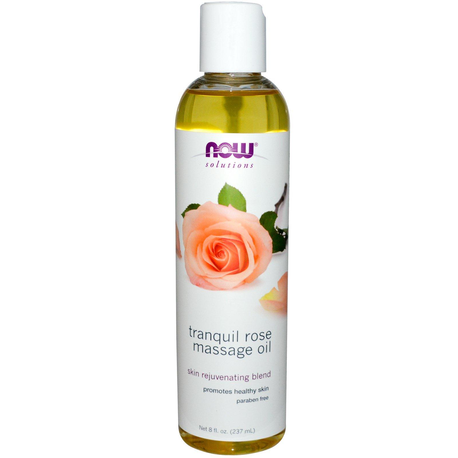 Now Foods, Solutions, Расслабляющее розовое масло для массажа, 8 жидких унций (237 мл)
