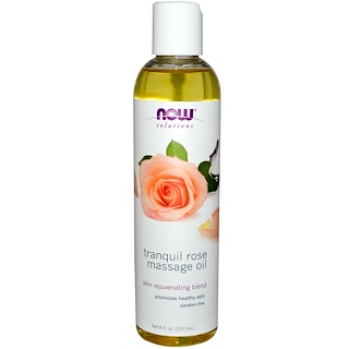 Now Foods, Solutions, Óleo para massagem Rosa tranquila, 8 fl oz (237 ml)