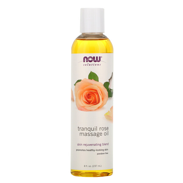 Now Foods, Solutions, Rosa Tranquila Aceite para Masajes, 8 fl oz (237 ml)