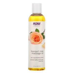 Now Foods, Solutions, Tranquil Rose Massage Oil, 8 fl oz (237 ml) отзывы покупателей