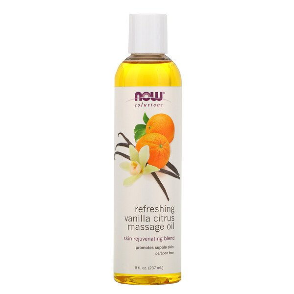 Solutions, Refreshing Vanilla Citrus Massage Oil, 8 fl oz (237 ml)