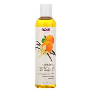 Now Foods, Solutions, Refreshing Vanilla Citrus Massage Oil, 8 fl oz (237 ml) отзывы покупателей