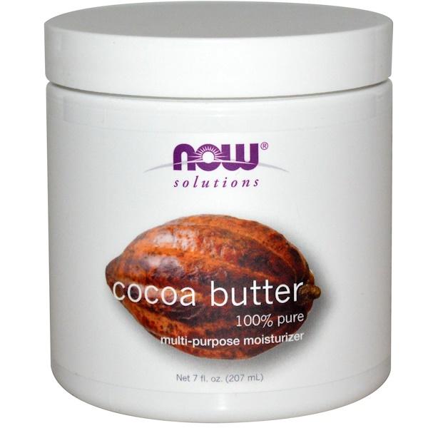 Now Foods, Solutions, масло какао, 7 жидких унций (207 мл)