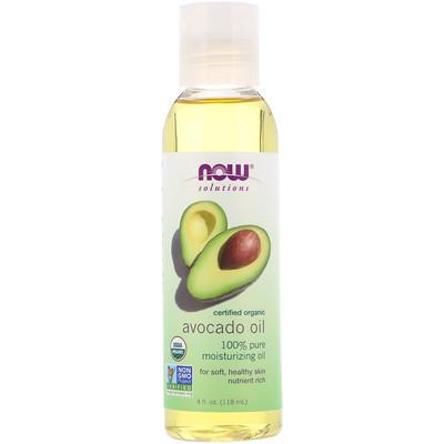 Купить Now Foods Solutions, органическое масло авокадо, 4 ж. унц. (118 мл)