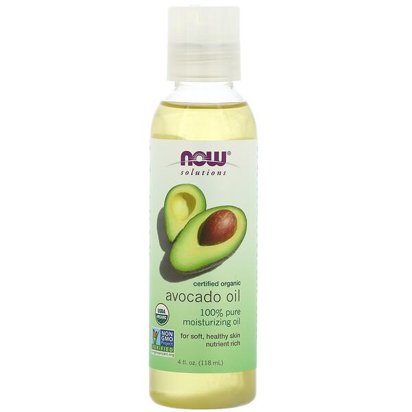 Now Foods, Solutions, Organic Avocado Oil, 4 fl oz (118 ml)