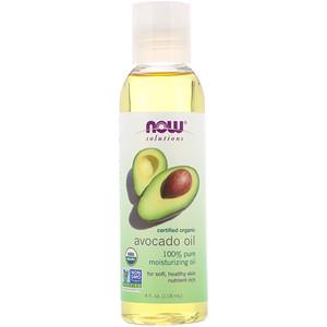 Now Foods, Solutions, Organic Avocado Oil, 4 fl oz (118 ml) отзывы покупателей