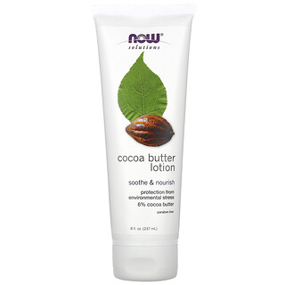 Now Foods, Solutions, Cocoa Butter Lotion, 8 fl oz (237 ml)