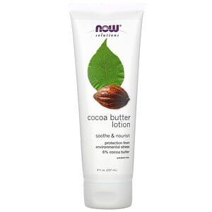 Now Foods, Solutions, Cocoa Butter Lotion, 8 fl oz (237 ml) отзывы