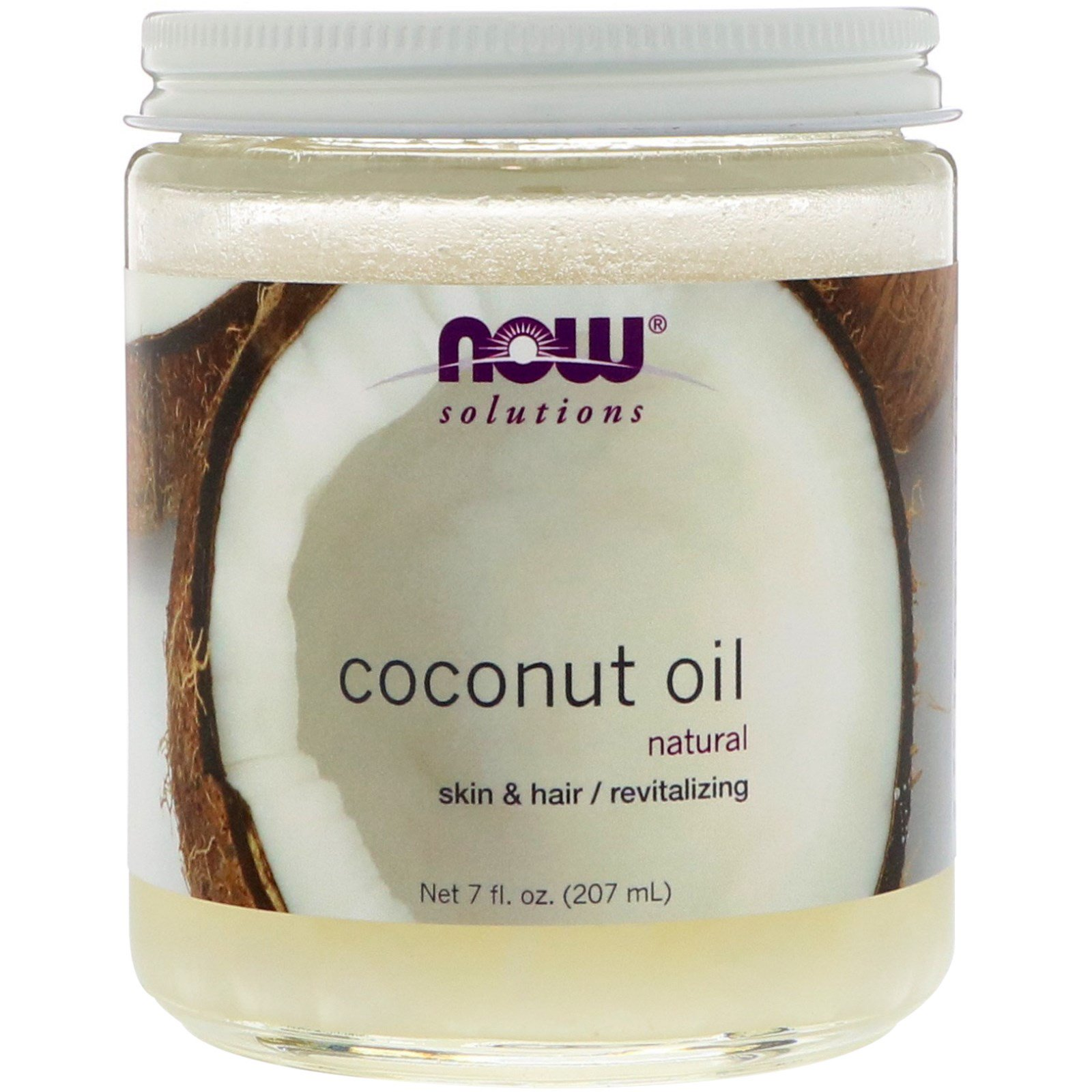 Now Foods, Решения, кокосовое масло, 7 жидк. унц. (207 мл)