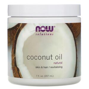Now Foods, Solutions, Coconut Oil, 7 fl oz (207 ml) отзывы покупателей
