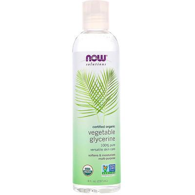 Купить Now Foods Solutions, органический растительный глицерин, 8 ж. унц. (237 мл)