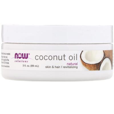 Купить Now Foods Решения, кокосовое масло, натуральное, 89мл