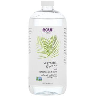 Now Foods, Solutions, Vegetable Glycerin, 32 fl oz (946 ml)