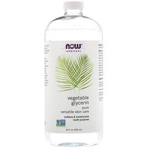 Now Foods, Solutions, Vegetable Glycerin, 32 fl oz (946 ml) отзывы покупателей
