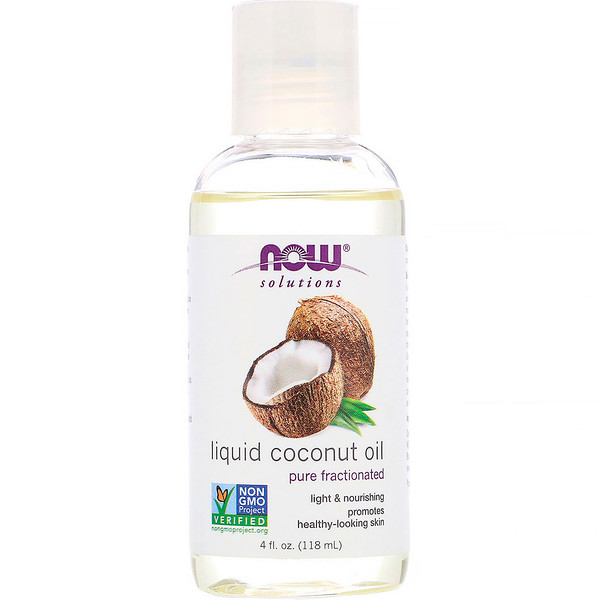 Now Foods, Solutions, Aceite líquido de Coco, Puro Fraccionado, 118 ml (4 fl oz)