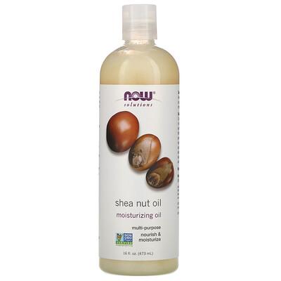 Купить Now Foods Solutions, масло орехов ши, чистое увлажняющее масло, 473 мл (16 жидких унций)
