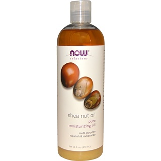 Now Foods, 시아 넛 오일(Shea Nut Oil), 퓨어 모이스쳐라이징 오일, 16 fl oz (473 ml)