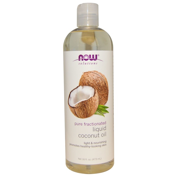 Solutions, Liquid Coconut Oil, Pure Fractionated, 16 fl oz (473 ml)