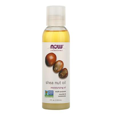 Купить Now Foods Solutions, Shea Nut Oil, 4 oz (118 ml)