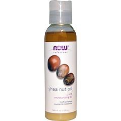 Now Foods, Solutions, Shea Nut Oil, Pure Moisturizing Oil, 4 fl oz (118 ml)