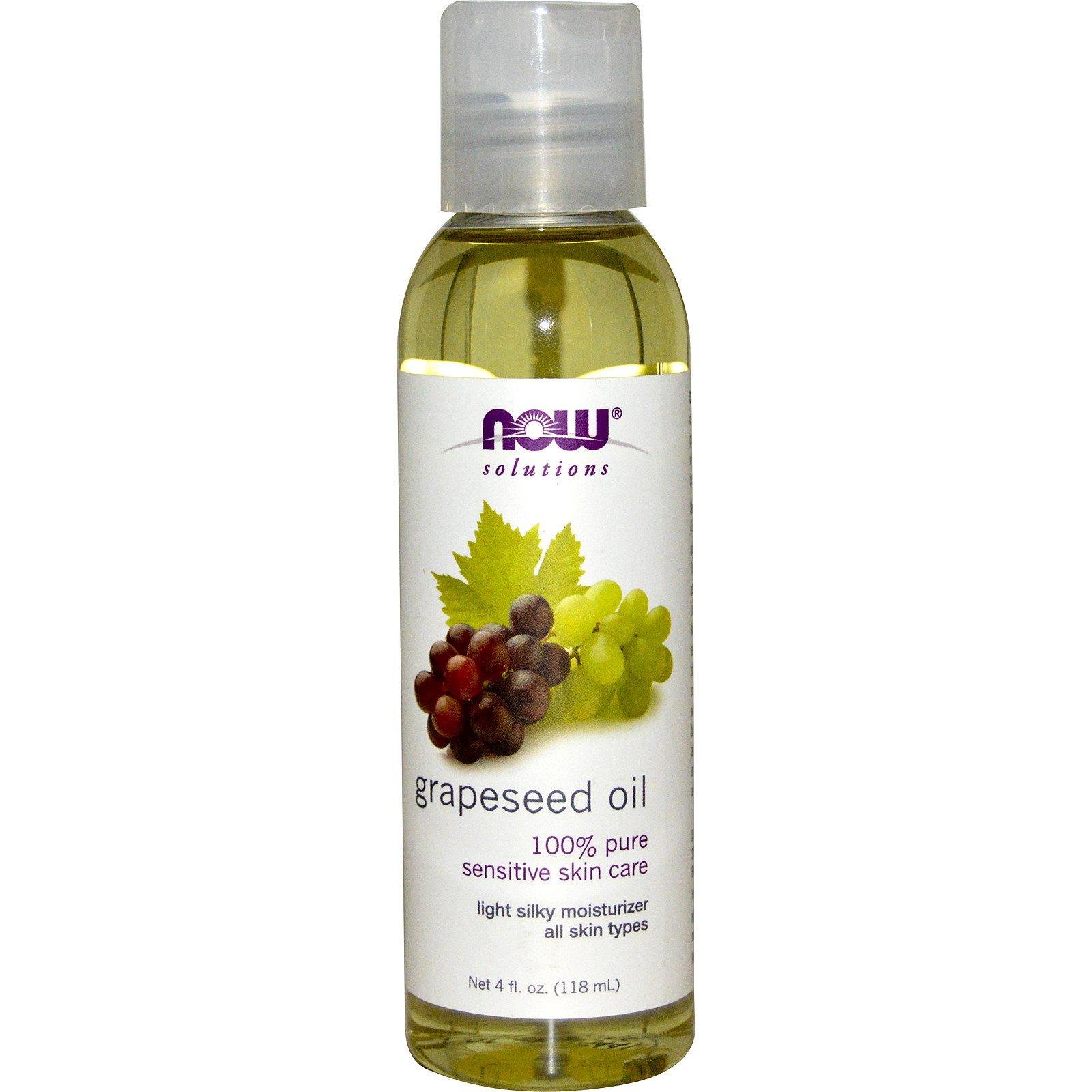 Now Foods, Solutions, Grapeseed Oil, 4 fl oz (118 ml) - iHerb.com
