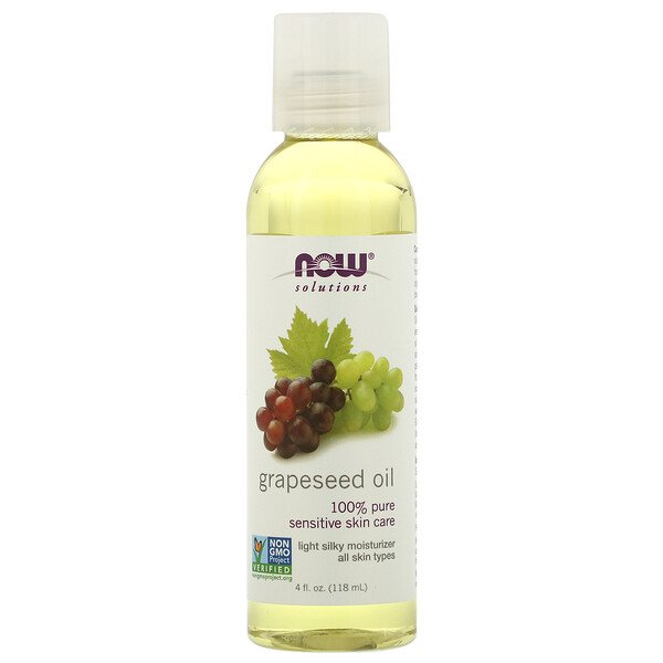 Solutions, Grapeseed Oil, 4 fl oz (118 ml)