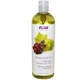 Now Foods, Solutions, Grapeseed Oil, 16 fl oz (473 ml)