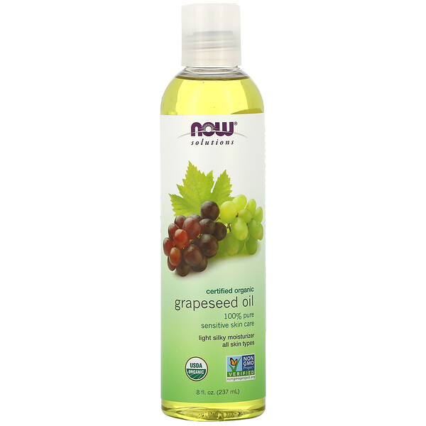 Solutions, Organic Grapeseed Oil, 8 fl oz (237 ml)
