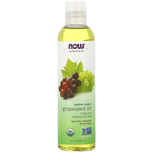 Now Foods, Solutions, Organic Grapeseed Oil, 8 fl oz (237 ml) отзывы покупателей