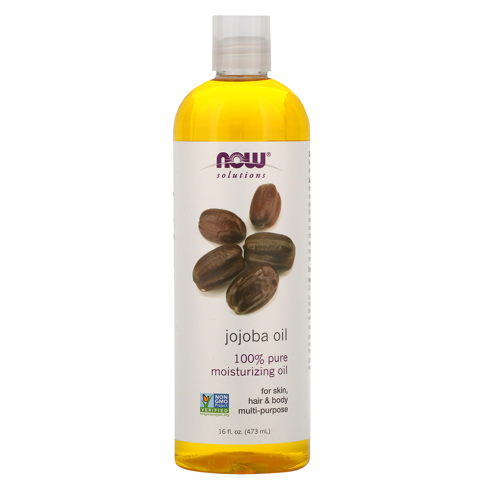 Now Foods, Solutions, Jojoba Oil, 16 fl oz (473 ml) - iHerb