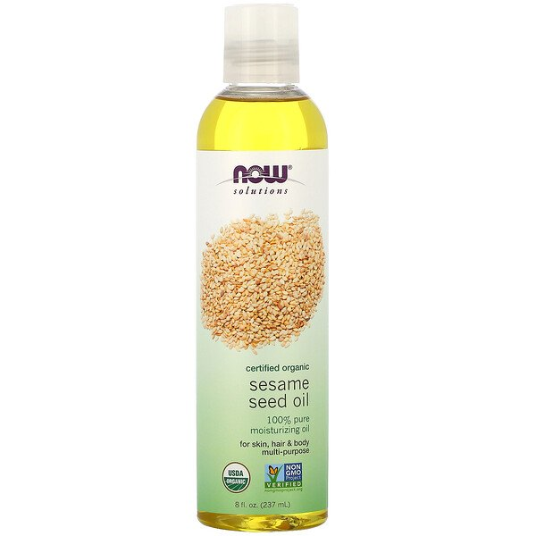 Solutions, Sesame Seed Oil, Certified Organic, 8 fl oz (237 ml)