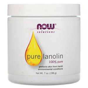 Now Foods, Solutions, Pure Lanolin, 7 oz (198 g) отзывы покупателей