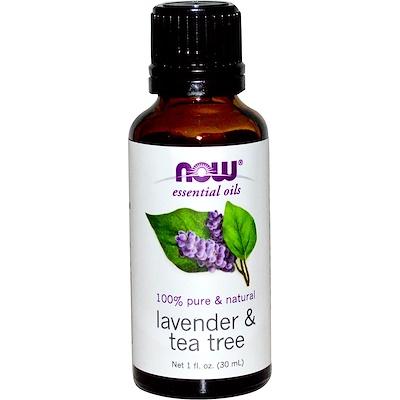 Эфирные масла, Лаванда и масло чайного дерева, 1 жидкая унция (30 мл)
