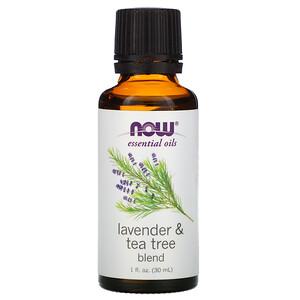 Now Foods, Essential Oils, Lavender & Tea Tree Blend, 1 fl oz (30 ml) отзывы