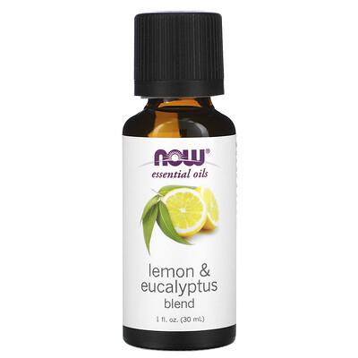 Купить Now Foods Essential Oils, Lemon & Eucalyptus Blend, 1 fl oz (30 ml)