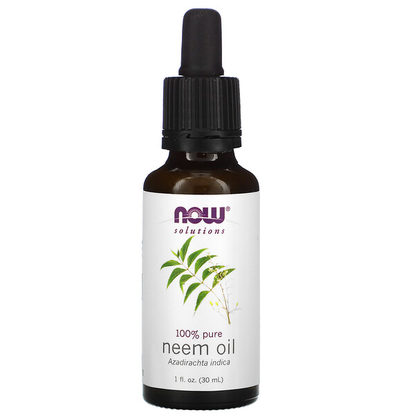 Solutions, 100% Pure Neem Oil, 1 fl oz (30 ml)