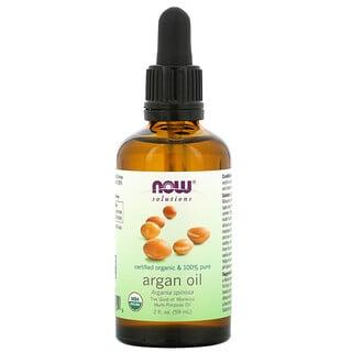 Now Foods, Solutions, Certified Organic & 100% Pure Argan Oil, 2 fl oz (59 ml)