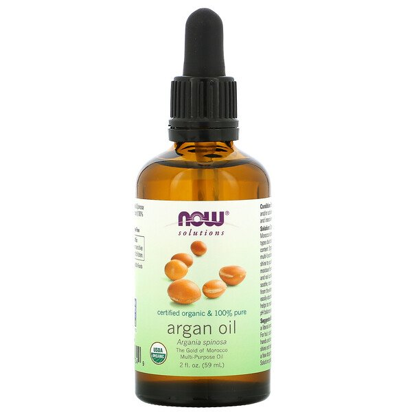 Now Foods, Solutions, Certified Organic & 100% Pure Argan Oil, 2 fl oz (59 ml)