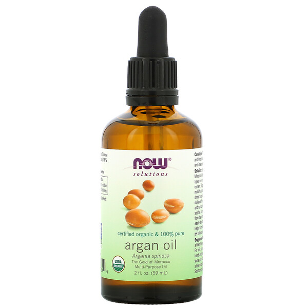 Solutions, Certified Organic & 100% Pure Argan Oil, 2 fl oz (59 ml)