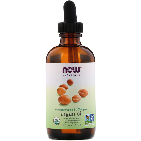 Solutions, Certified Organic & 100% Pure Argan Oil, 4 fl oz (118 ml)