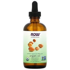 Now Foods, Solutions, Certified Organic & 100% Pure Argan Oil, 4 fl oz (118 ml) отзывы