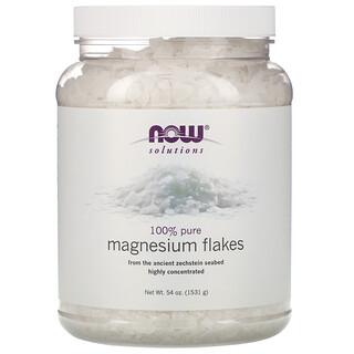Now Foods, Soluções, Flocos de Magnésio, 100% Puros, 1531 g (3,37 lbs)