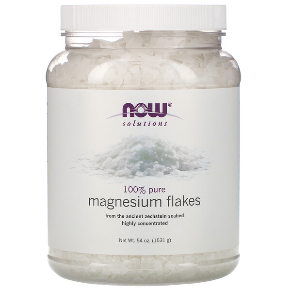 Now Foods, Solutions, Magnesium Flakes, 100% Pure, 3.37 lbs (1531 g)