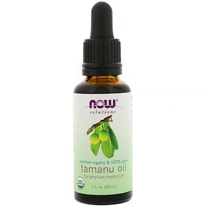 Now Foods, Certified Organic & 100% Pure, Tamanu Oil, 1 fl oz (30 ml) отзывы покупателей