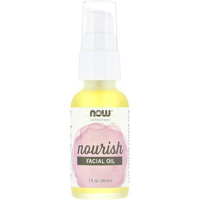 Купить Now Foods Solutions, Facial Oil, Nourish, 1 fl oz (30 ml)