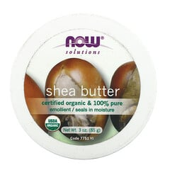 Now Foods, 解決方案,有機乳木果油,3 盎司(85 克)