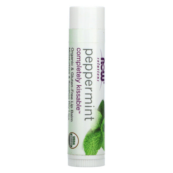 Solutions, Completely Kissable Lip Balm, Peppermint, 0.15 oz (4.25 g)
